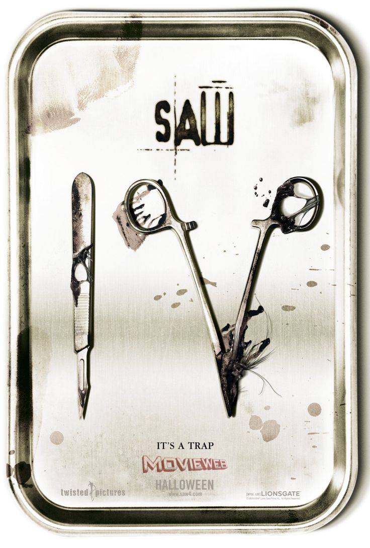 Saw IV..I love this poster...brilliant.