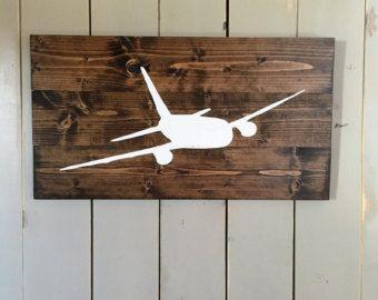 Airplane Sign | Aviation Sign | Pilot Gift | Aviation Wood Sign | Aviation Gift | Airliner | Gift for Pilot