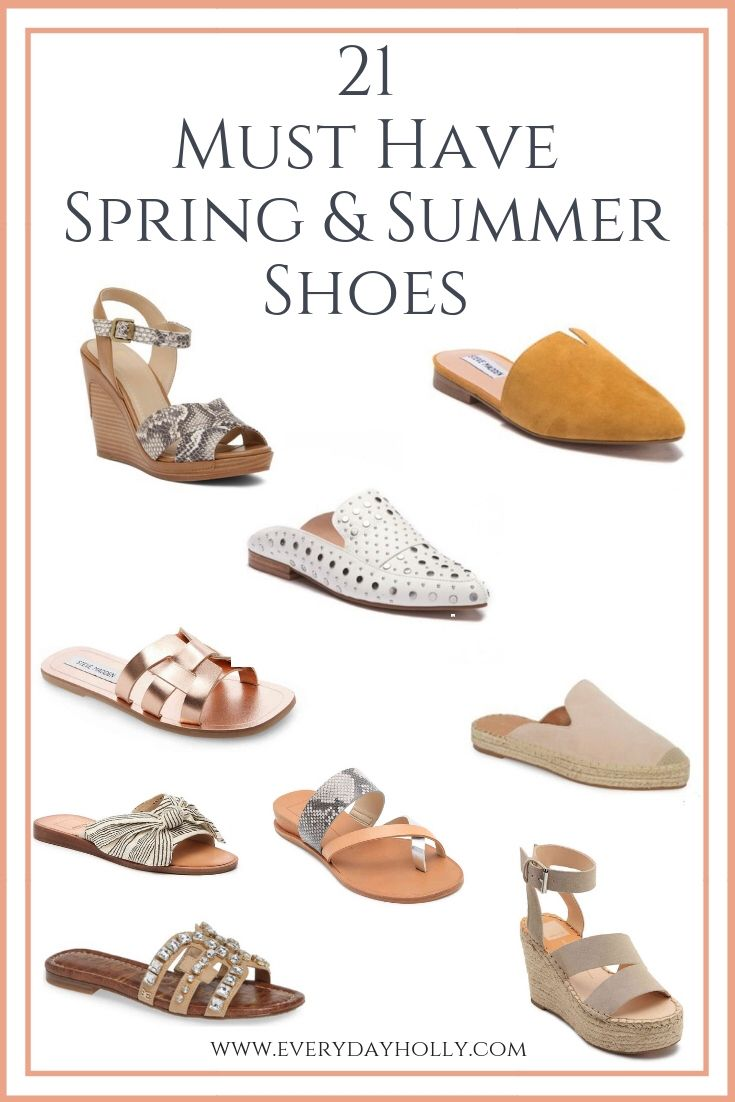 8 Must Have Affordable Spring & Summer Shoes - Everyday Holly