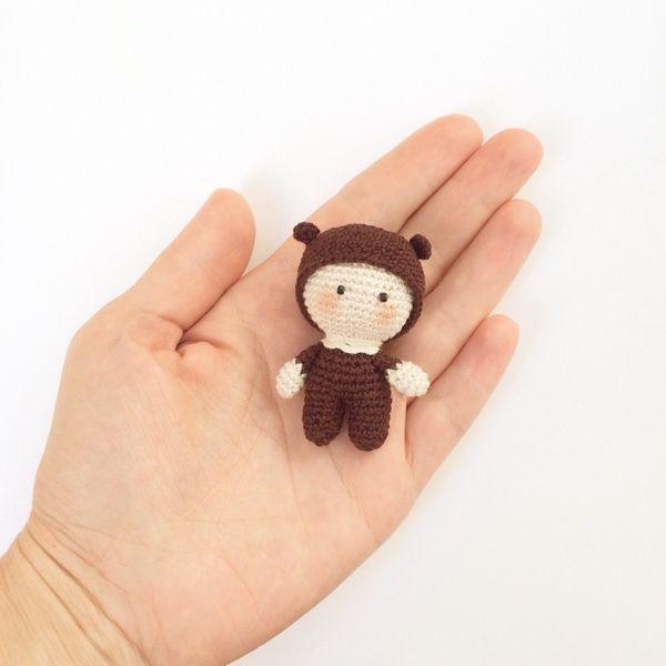 Купить Вязаный пупсик - Пупсик, вязаный пупс, кукла крючком, миниатюра, мини пупс
