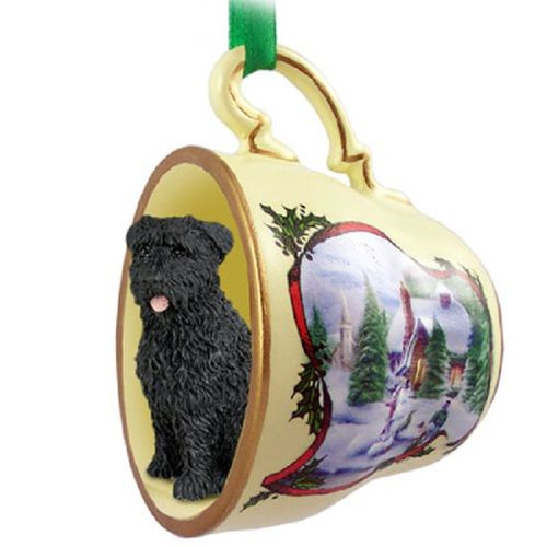 Bouvier des Flandres Decorative Snowman Tea Cup Ornament