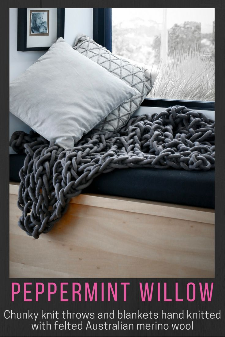 A chunky style knit adding a soft textural element to your home decor.