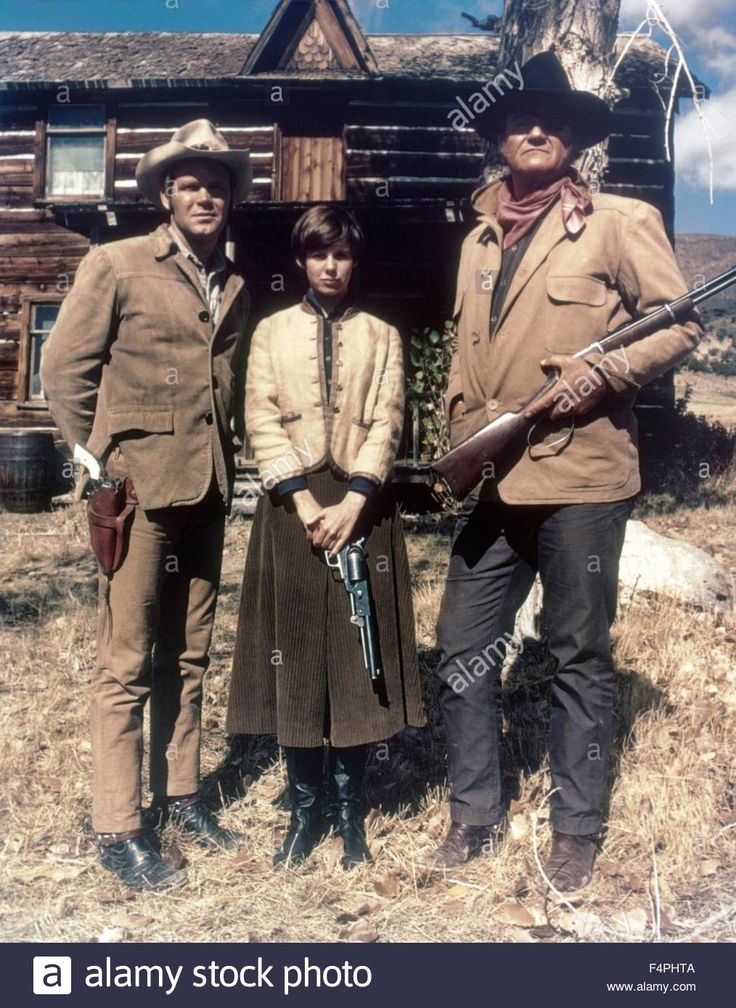 Kim Darby, Glen Campbell and John Wayne / True Grit / 1969 directed by Henry