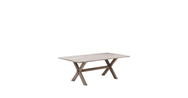Colonial matbord tillverkat i massiv återvunnen teak. Colonial är ett klassiskt matbord som ger plats åt hela familjen när det är dags för middag eller fika på terrassen. Bordet är tillverkat av återvunnen teak och har ett kryss som bas. Efter några månader utomhus kommer bordet få en vacker silvergrå färg.