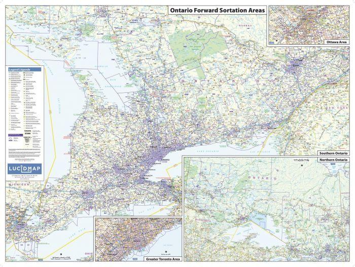 ontario postal code map postal code