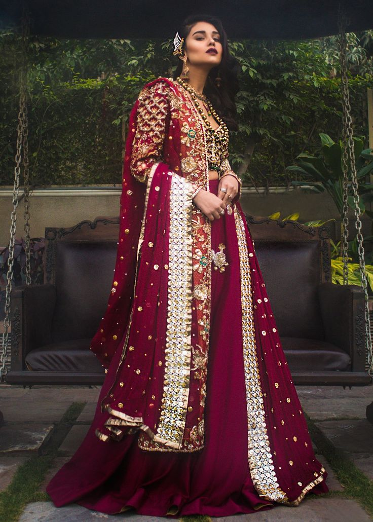 Buy Indian Bridal Wear-Wedding Bridal Red Dress-Indian Bridal Lehnga