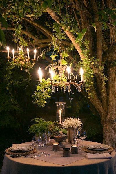 Why yes; let's have have an enchanted evening in the forest. Complete with candelabras.