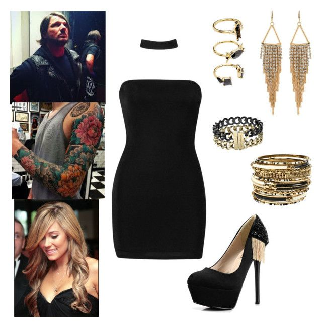 AJ Styles: you wear a choker dress and it shows your tattoo by dpclma on Polyvore featuring мода, Boohoo, Kvoll, Amrita Singh, Carolee, Michael Kors, Noir Jewelry and WWE