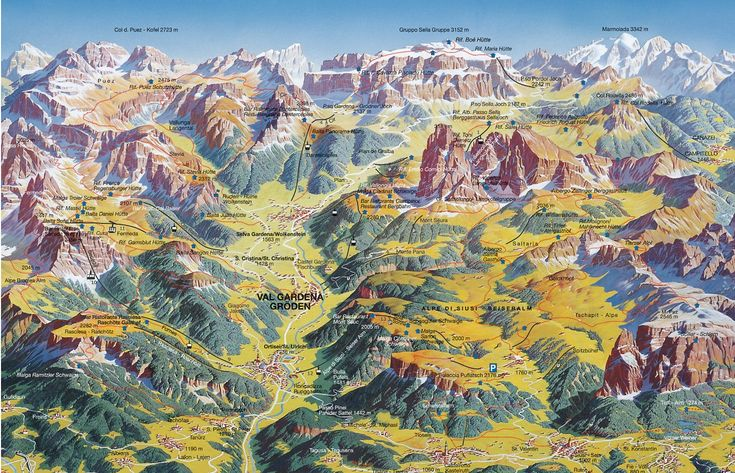 Val Gardena Summer Trail Map