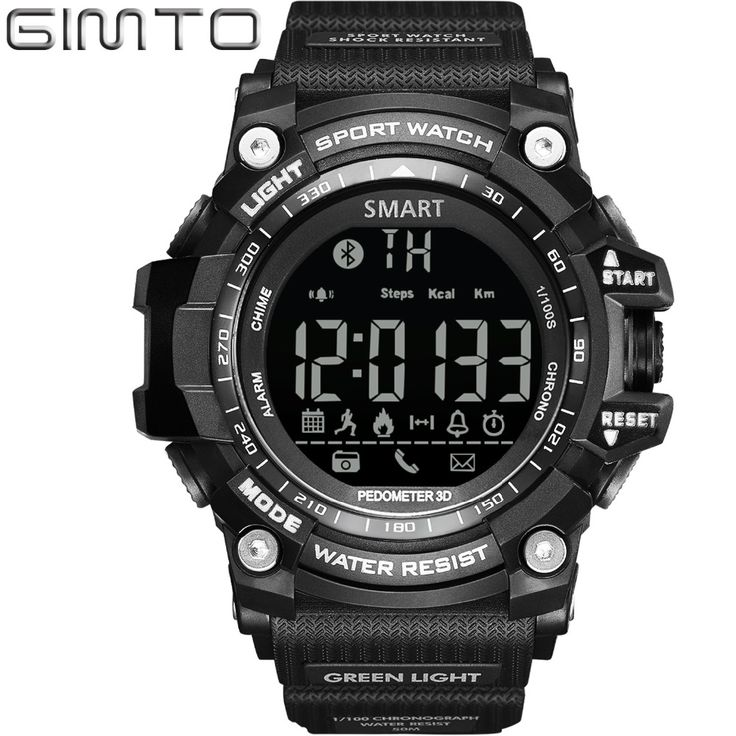GIMTO Digital Watch Men Waterproof LED Men Sport Watches Military Pedometer Bluetooth Chronograph electronic Smart Watch Relogio-in Digital Watches from Watches on Aliexpress.com | Alibaba Group