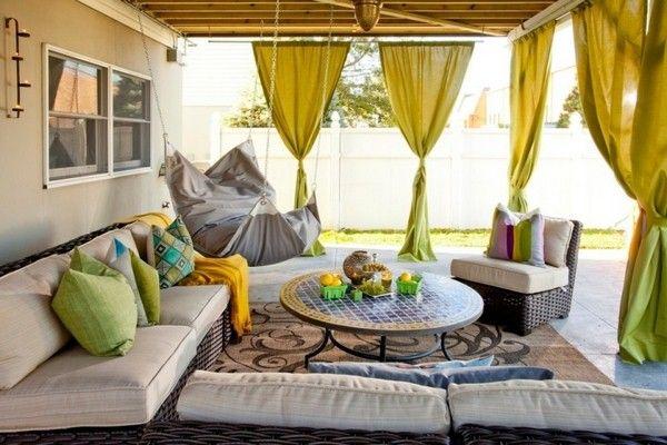 terrasse rideaux de confidentialité couverts modernes …