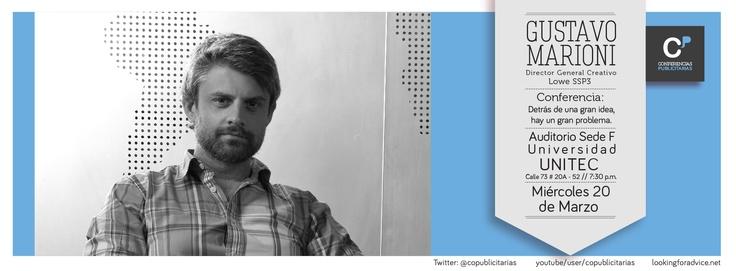 Gustavo Marioni, Director General Creativo de LOWE SSP3 Colombia, la agencia más creativa del mundo según Advertising Age.