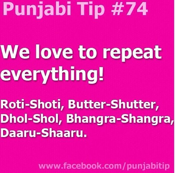 Punjabi's do this