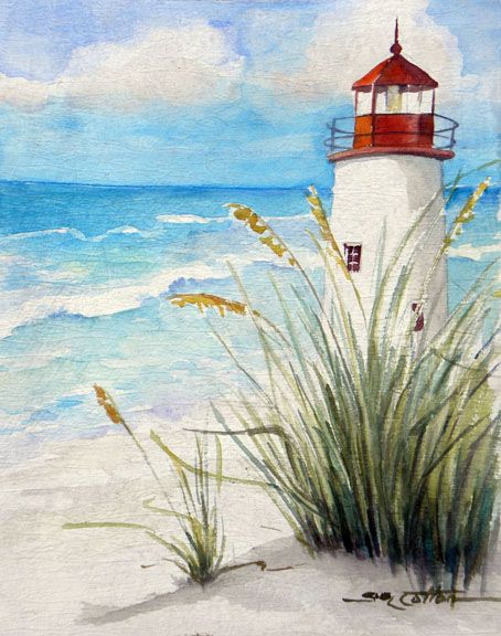 """Lighthouse on the Beach"" by Sue Lynn Cotton"