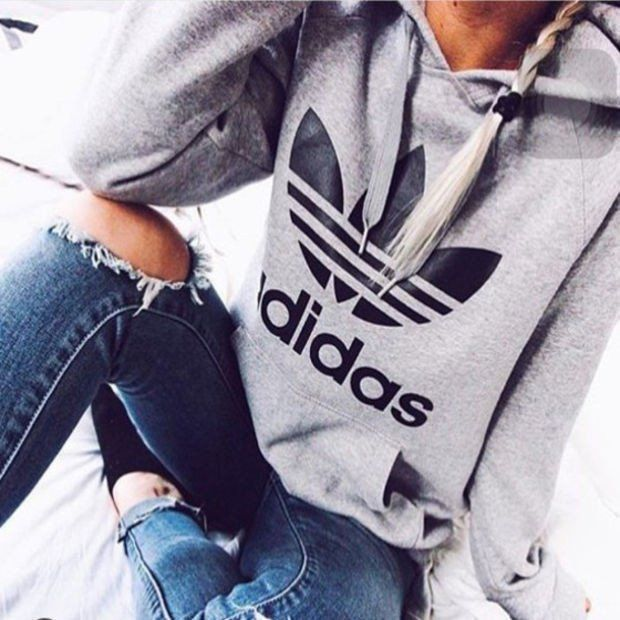 Fashion Adidas Print Hooded Pullover Tops Sweater Sweatshirts ,Adidas Shoes Online,#adidas #shoes