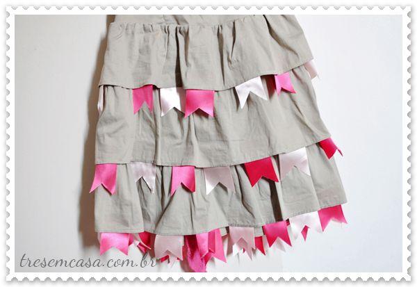 Como customizar um vestido para festa junina!