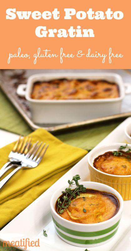 Sweet Potato Gratin, uses pumpkin puree. Looks good, but looks like a ...