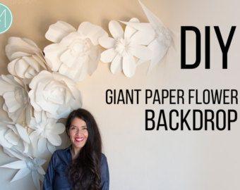 Plein papier géant fleur fond patrons et par AvantiMorochaDIYs
