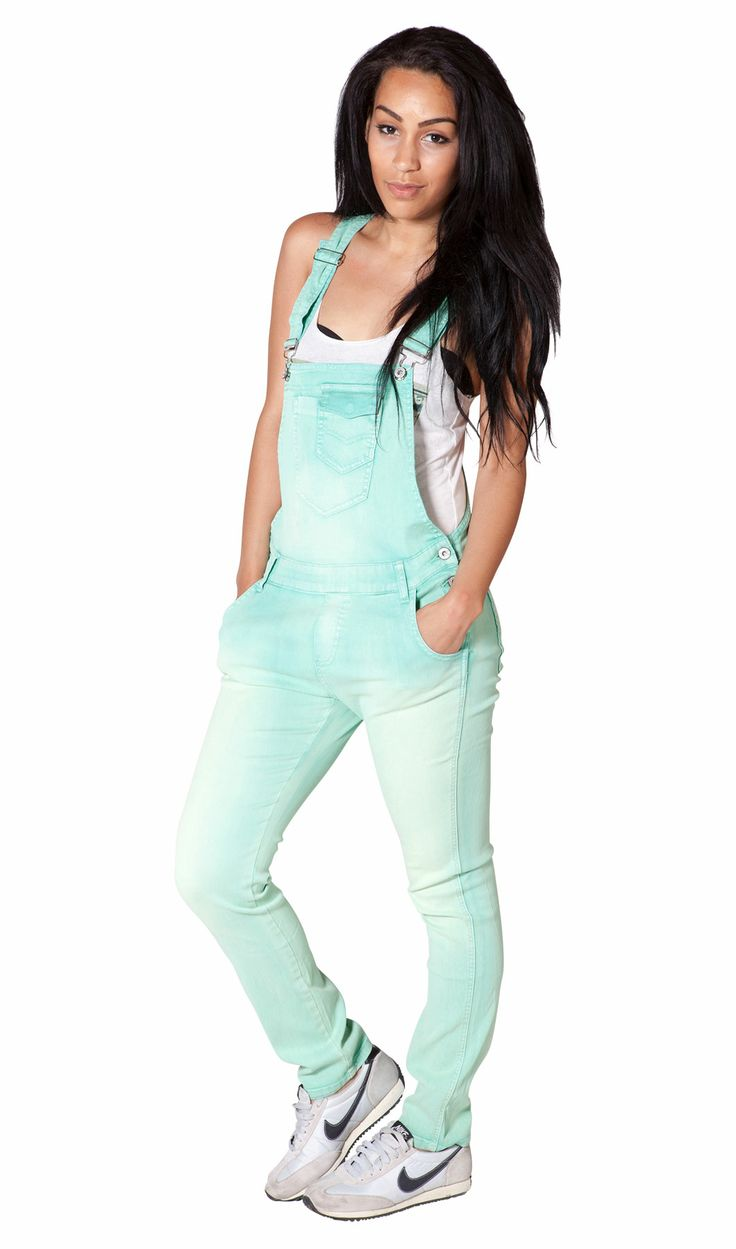 Gorgeous mint green ladies dungarees - these are so cool!! Festival Fashion sorted! #dungarees #overalls #festivalwear