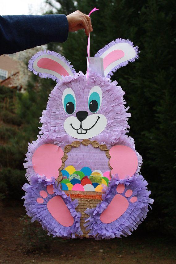 Purple Bunny Pinata by AbitaAchie on Etsy