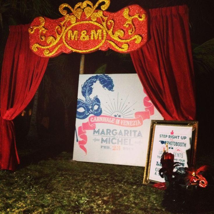 Carnival of Venice Photo Booth - Spot para fotos inspirado en el carnaval de Venecia