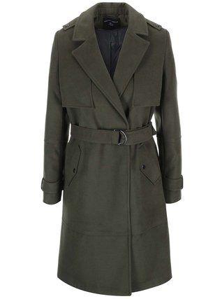 Dorothy Perkins - Tmavě zelený oversized kabát s kapsami - 1