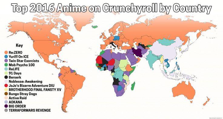 Crunchyroll revela los anime mas vistos del 2016 en todo el mundo