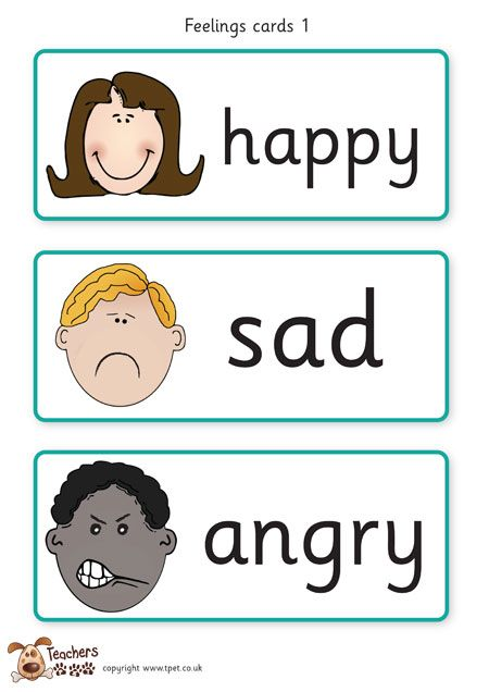 Teacher's Pet Displays » Feelings cards » FREE downloadable EYFS, KS1, KS2 classroom display and teaching aid resources » A Sparklebox alternative
