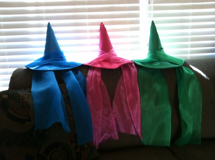 Sleeping Beauty Fairy Hats- paired with a dress of the same color would be great!