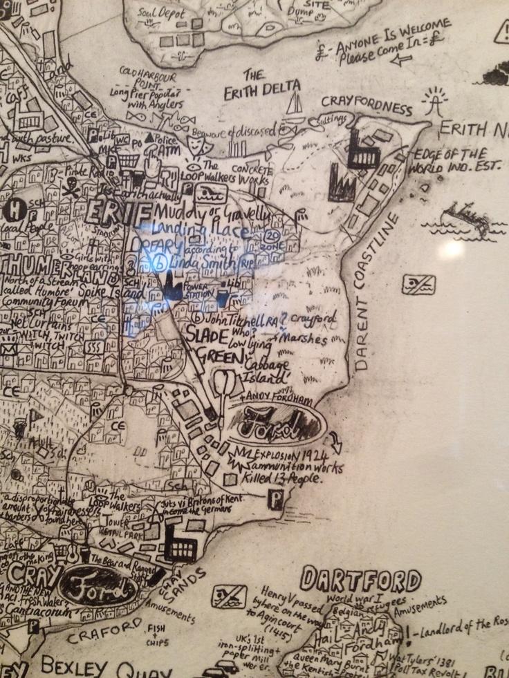 Artist Hand Drawn London As An Island Maps