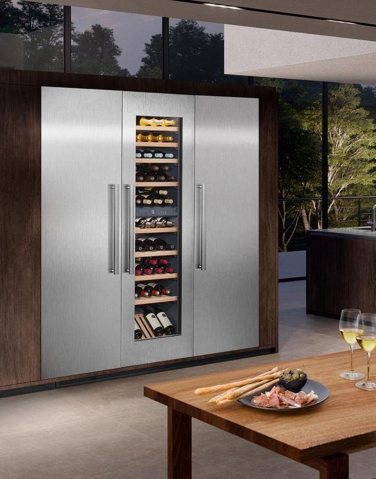 Kuchengerate Hightech In Designerrobe Weinkuhlschrank Weinschrank Side By Side Kuhlschrank