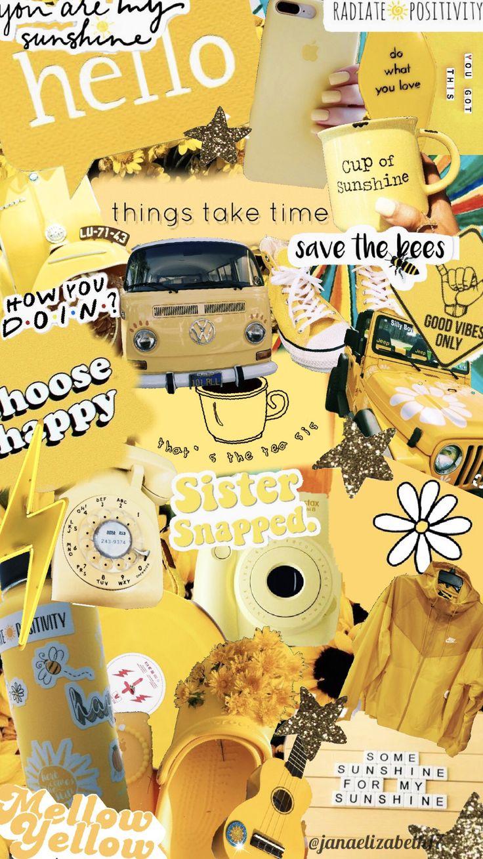 p i n janaelizabeth17 iphone wallpaper yellow iphone