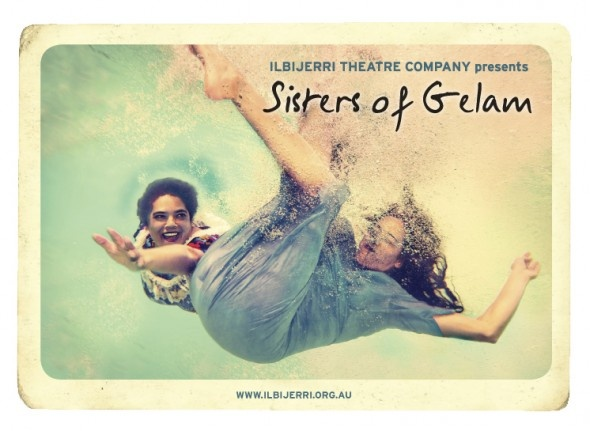 Promo image for the Ilbijerri production 'Sisters of Gelam'. Well worth the winter swim!