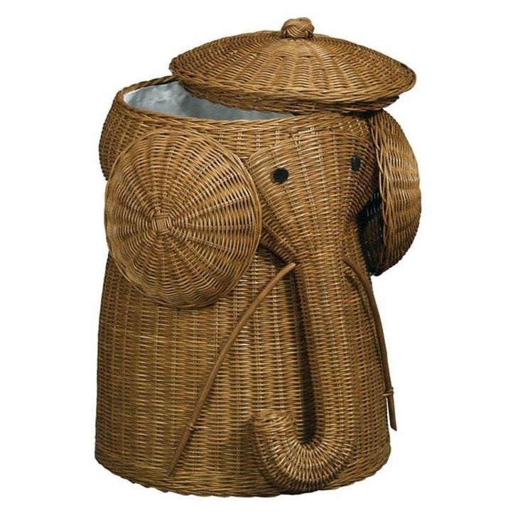 Rattan elephant hamper want need love pinterest - Elephant hamper wicker ...