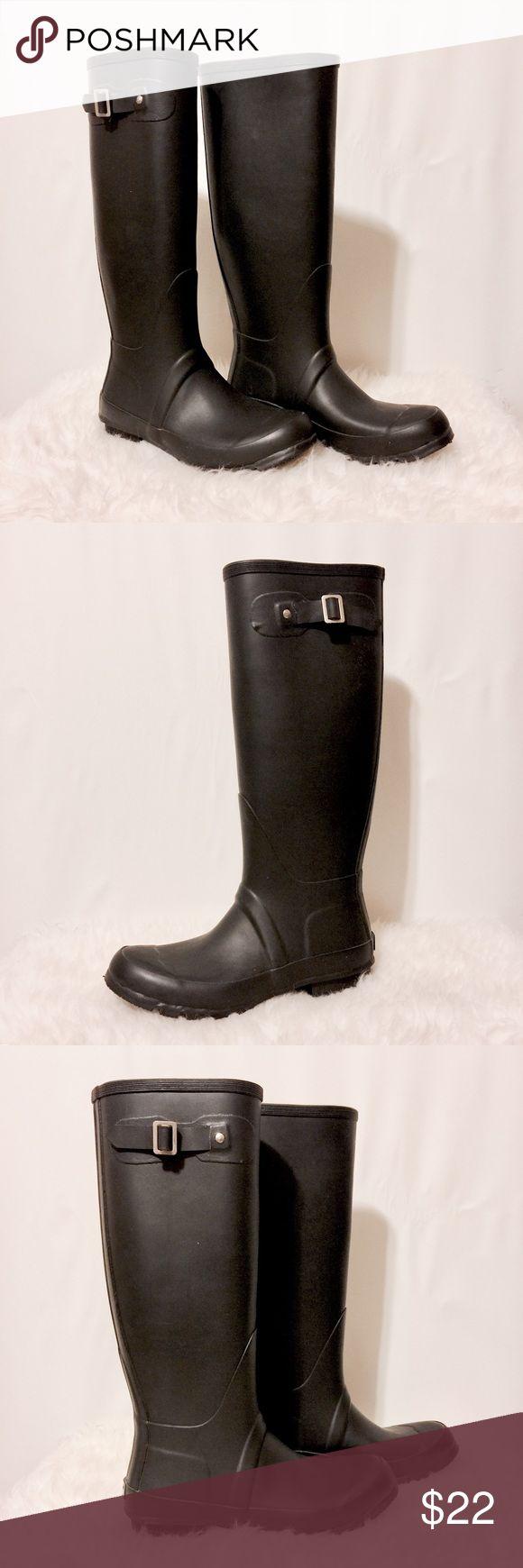 "✨ Black Rain Boots NWOB Brand new rain boots! 17"" tall 1"" heels 15"" calf UNIONBAY Shoes Winter & Rain Boots"