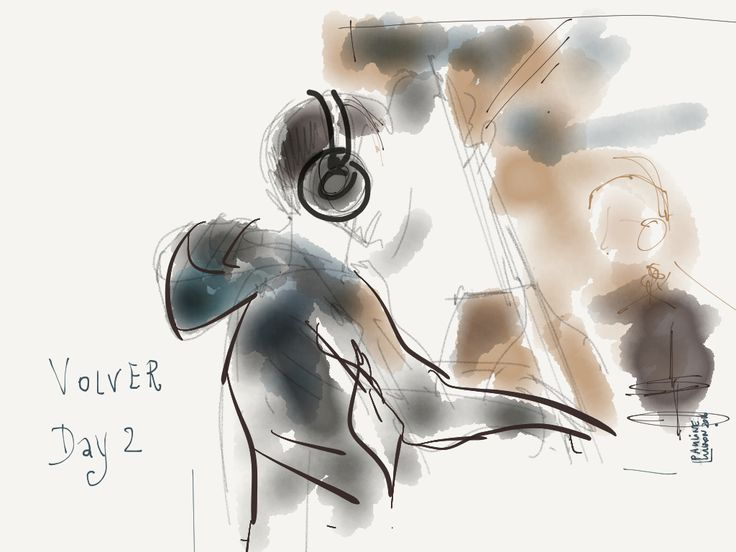 Recording session, Day 2 with VOLVER, By @pauline lugon 2016