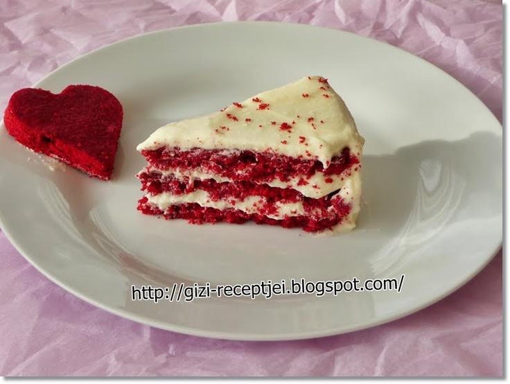 Gizi-receptjei. Várok mindenkit.: Red Velvet Cake. (Vörös bársony torta)