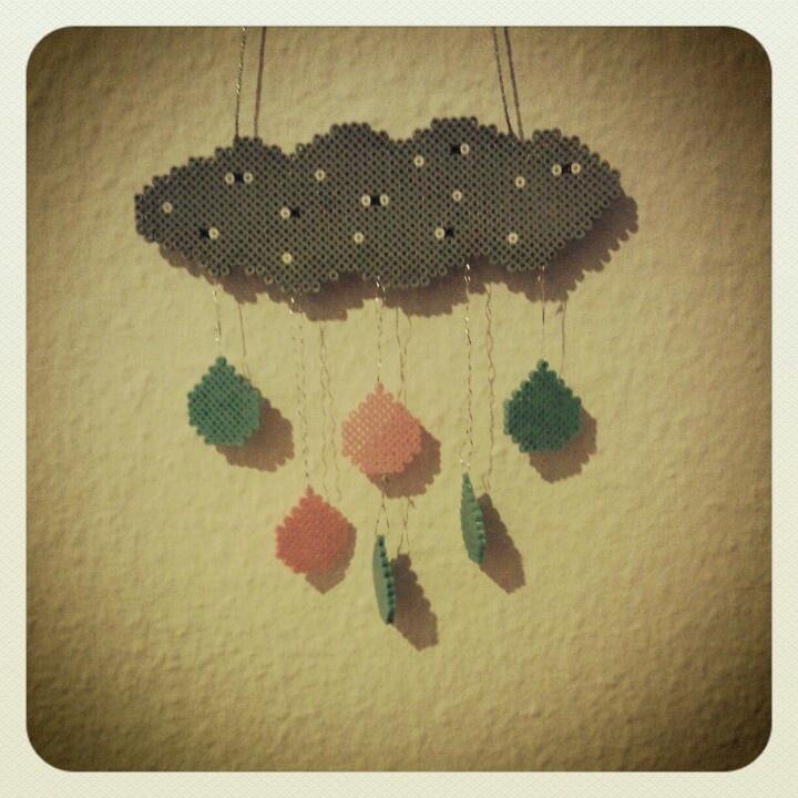 Rain Cloud in Hama Pearls