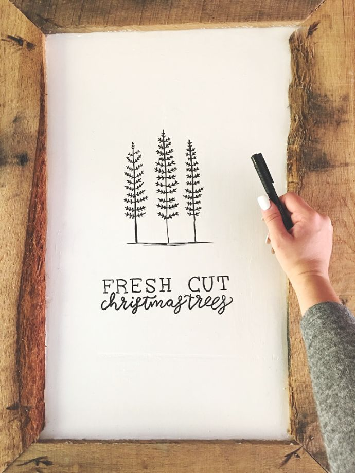 "We Lived Happily Ever After: DIY Sharpie ""Fresh Cut Christmas Trees"" Sign"