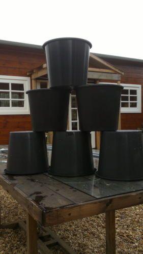 "20 X 5L 5 Litre Used Round Plastic Plant Pots 9"" Diameter 8"" Deep   eBay"