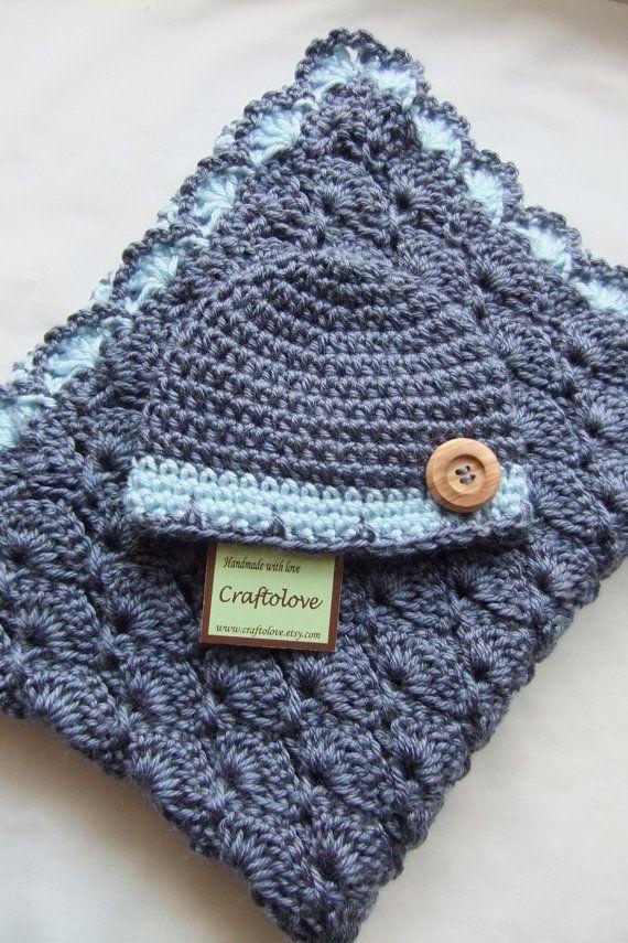 Baby Boy Shower Gift Set Baby Boy Blanket Denim by craftolove