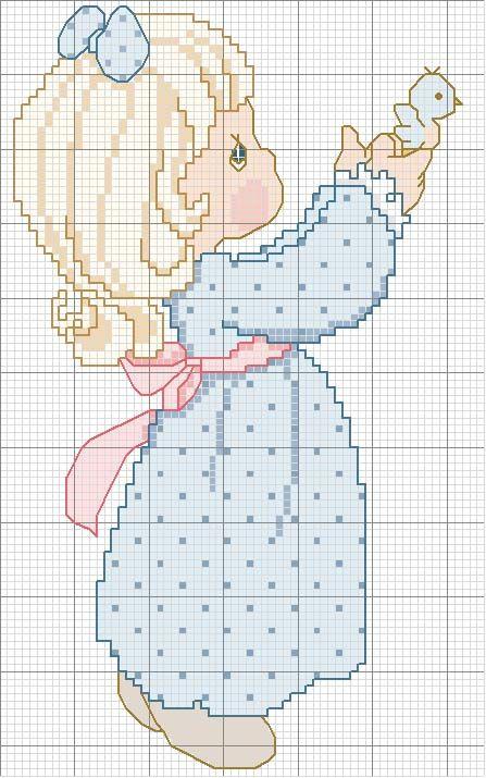 Schema punto croce Bambina Bionda