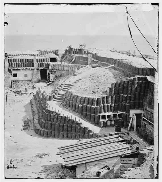 Charleston, S.C. Interior of Fort Sumter with gabions;
