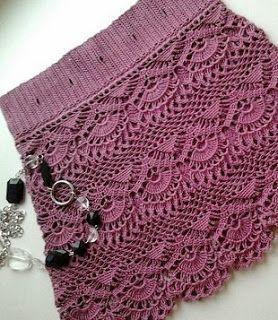 Tina's handicraft : mini crochet skirt