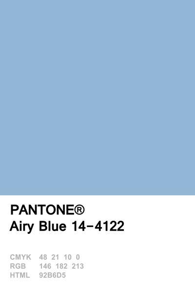 Pantone 2016 Airy Blue