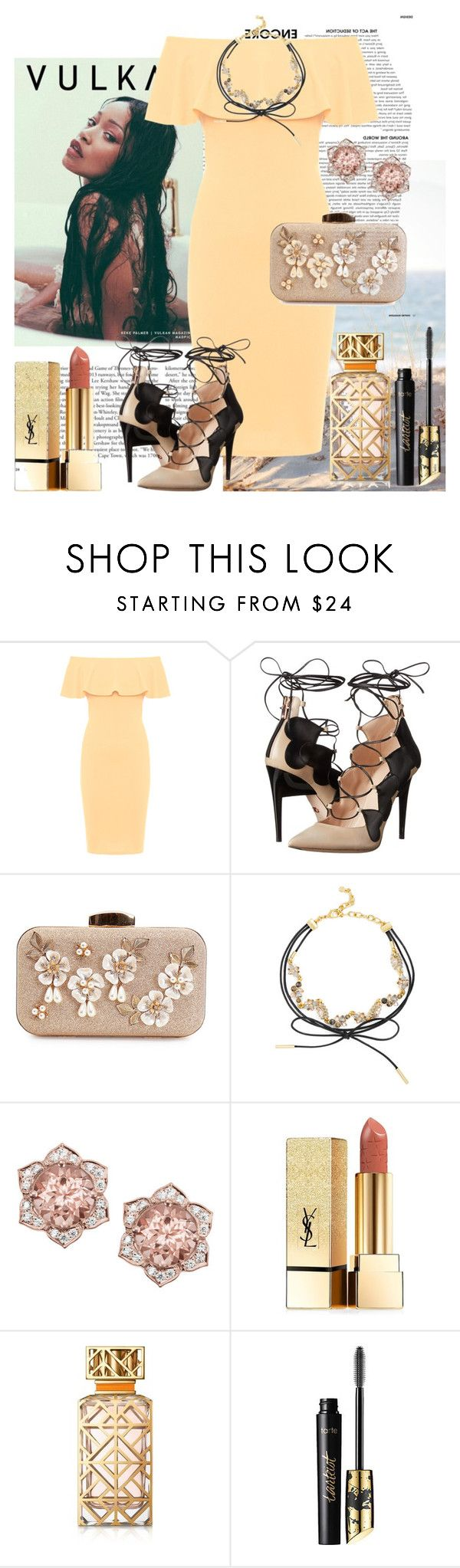 """Insense"" by raincheck ❤ liked on Polyvore featuring Kershaw, WearAll, Ruthie Davis, BaubleBar, Yves Saint Laurent, Tory Burch and tarte"