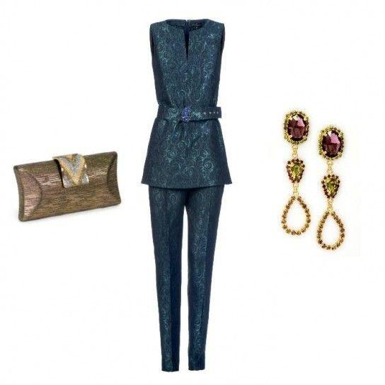 Abito con accessori dorati Luisa Spagnoli 2014