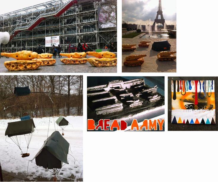Anders 2015: 6. Kunstenaars en maatschappij Hermann Josef Hack De Duitse Hack maakt zijn tijdelijke installaties vaak in de buurt van grote kunst- en/of milieu manifestaties. Een van zijn projecten was Bread Army ('Broodleger') uit 2013. Het broodleger streed onder meer voor een eerlijke voedselverdeling.
