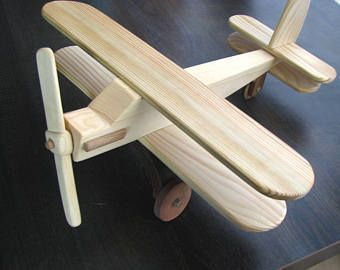 Wooden toy plane Wood airplane Preschool toy Push plane Eco friendly toy Sustainable hard natural wood Gift for boys Christmas child's gift #woodentoy