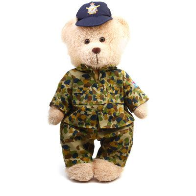 Defence Gifts - RAAF Teddy Bear in CAMS 30cm, $25.95 (http://www.defencegifts.com.au/raaf-teddy-bear-in-cams-30cm/)